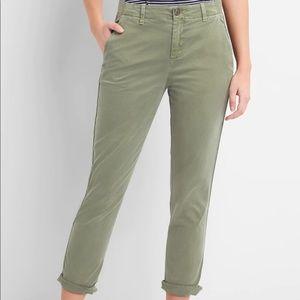 GAP Girlfriend Twill Olive Green Khaki Pants